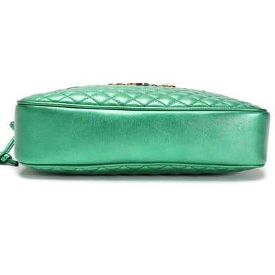 Gucci Jasmine Green Quilted Leather Trapuntata Camera Bag