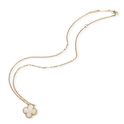 Van Cleef & Arpels Alhambra Mother Of Pearl Necklace in 18K Yellow Gold