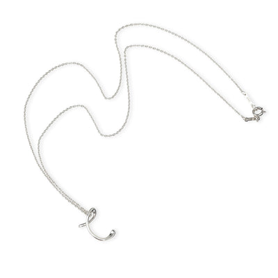 Tiffany & Co. Elsa Peretti Initial C Necklace in Sterling Silver