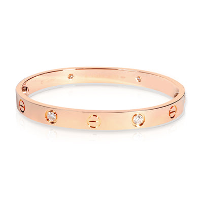 Cartier Love Diamond Bracelet in 18K Rose Gold 0.40 CTW