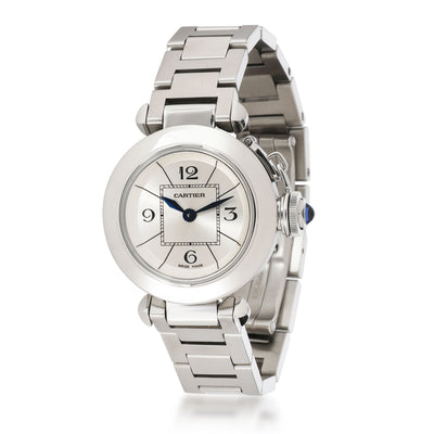 Cartier Miss-Pasha W3140007 Women's Watch in  Stainless Steel
