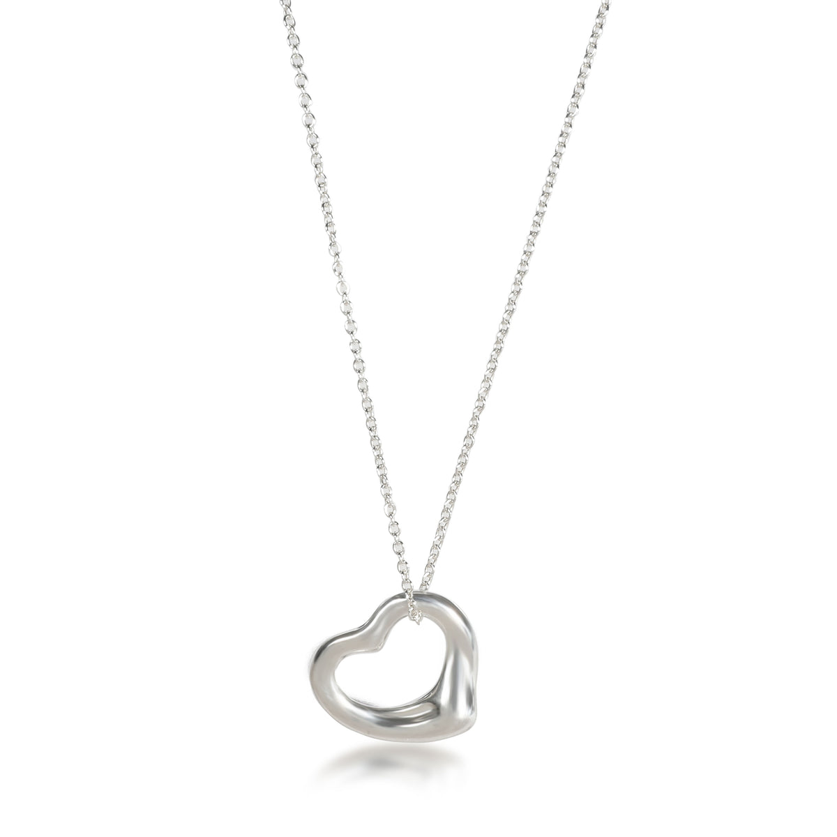 Tiffany & Co. Elsa Peretti Open Heart Necklace in  Sterling Silver