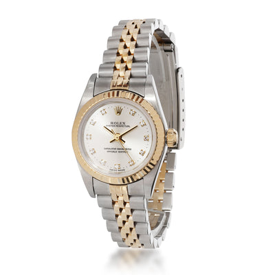 Rolex Oyster Perpetual 76193 Women's Watch in 18kt Stainless Steel/Yellow Gold
