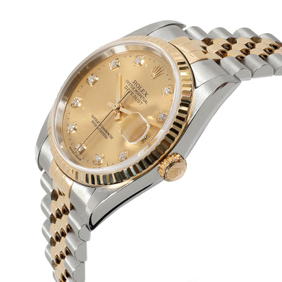 Rolex Datejust 16233 Men's Watch in 18kt Stainless Steel/Yellow Gold