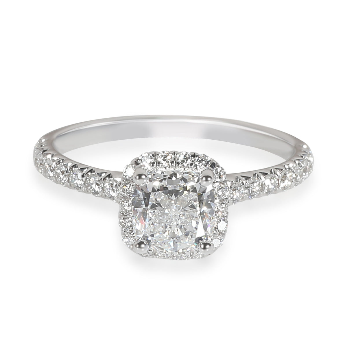 James Allen Halo Diamond Engagement Ring in 14K White Gold GIA F IF 1.23 CTW