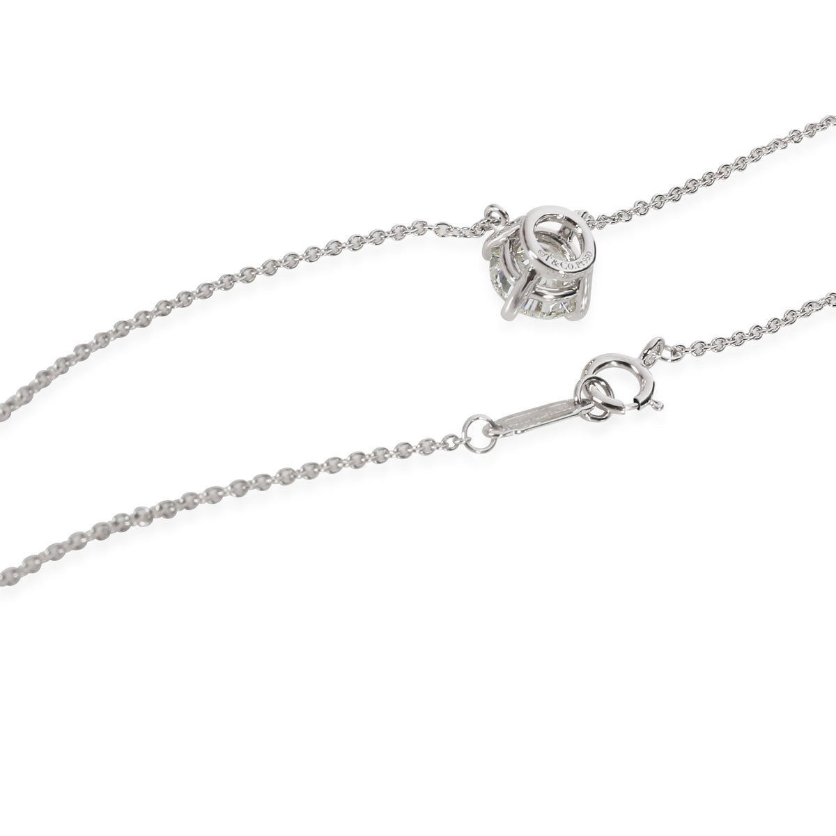 Tiffany & Co. Diamond Solitaire Necklace in   1 CTW