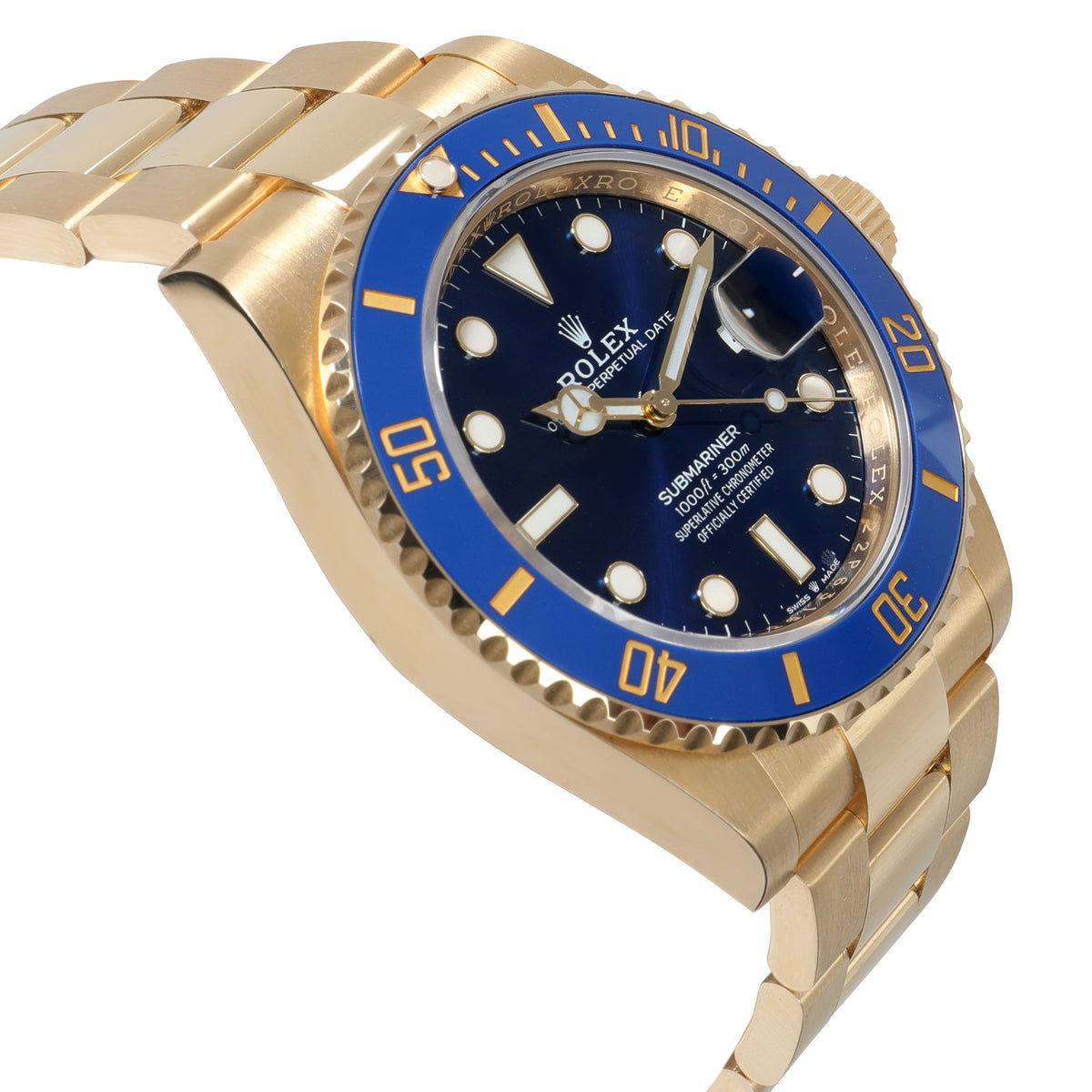 Rolex Submariner 126618LB Men's Watch in 18kt Yellow Gold