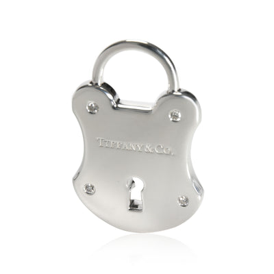 Tiffany & Co. Diamond Padlock Charms in  Sterling Silver 0.02 CTW