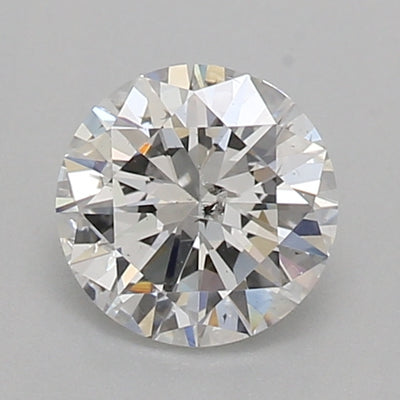 GIA Certified 0.52 Ct Round cut F I1 Loose Diamond
