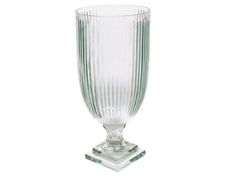Stripe Cut Goblet Vase #11132000