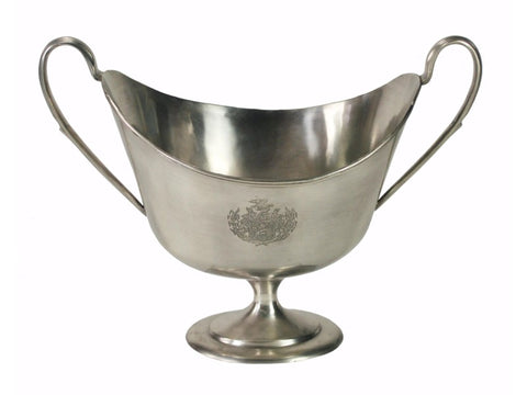 Silver Goblet Vase with Handles #11170000