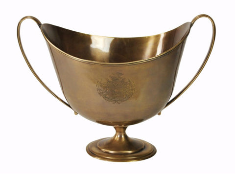Large Brass Goblet with Handles #11170100