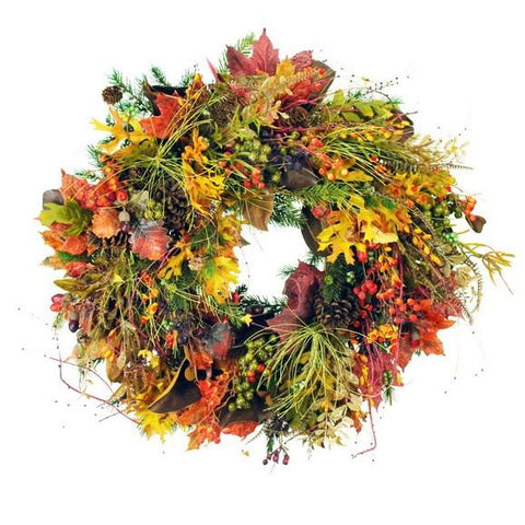 AUTUMN MIX WREATH   #1FDP008.AV