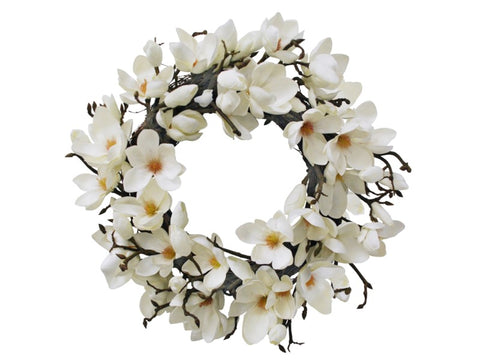 Japanese Magnolia Wreath  24''  #1P4085.WHOO
