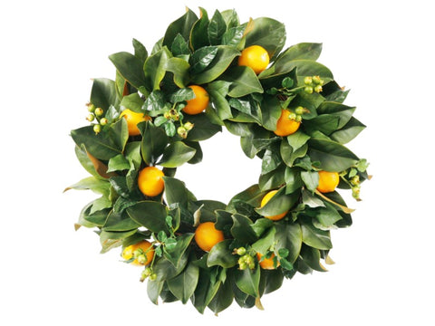 Lemon Wreath 24'' #1P4092.YL