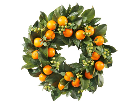 WREATH ORANGE 24'' #1P4093.GO