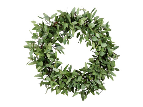 SEEDED EUCALYPTUS WREATH 30''  #1P4259.GROO