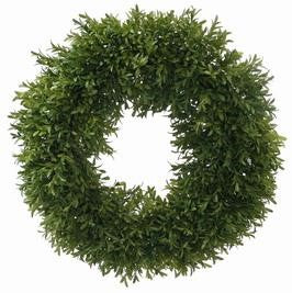 ENGLISH BOXWOOD WREATH 18''  #1P4409.GROO