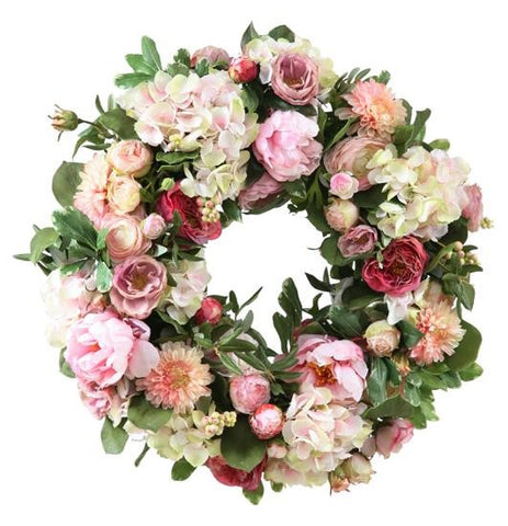 GARDEN FLOWERS WREATH 24'' #1P91005.PKOO