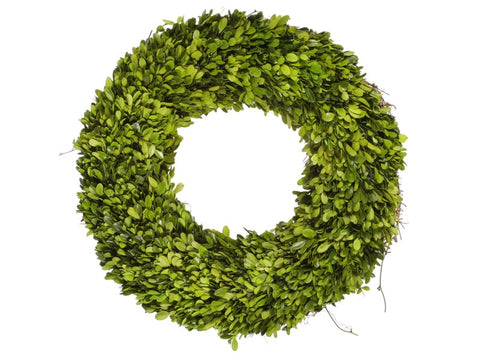 SINGLE SIDE BOXWOOD WREATH 20''  #1PG3124.GROO