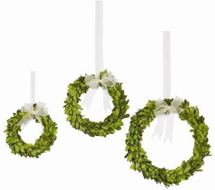 BOXWOOD WREATH WITH RIBBON   #1PG3140.GROO