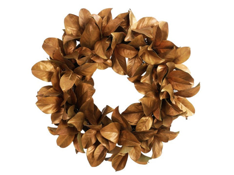 MAGNOLIA GOLD LEAF WREATH 30'' #1XP065019.GRBROO