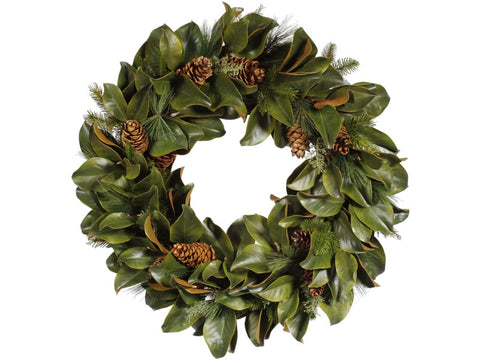"MAGNOLIA LEAF WREATH 36"" #1XP10132.MIOO"