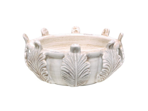 White Acanthus Bowl #12025200
