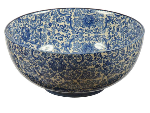 Blue and White Toile Bowl #12422000
