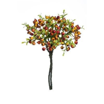 Red/Yellow Berry Leaf Branch #13501800