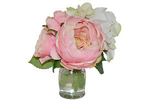Blush Peony Mix in Vase #51011