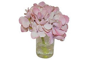 Pink Hydrangea in Small Mason Jar #51014