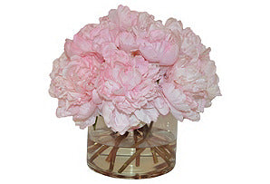 Pink Peonies in Glass Cylinder #51024