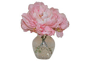 Peonies in Glass Vase #51043