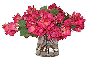 Bougainvillea in Glass Vase #51044