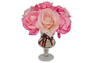 Pink Roses in Urn #51046