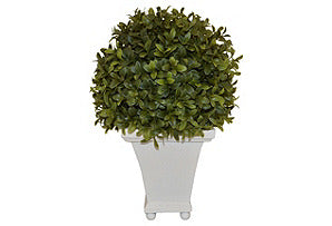 Boxwood Ball on Resin Pot #51074