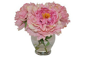 Peonies in Tall Rose Bowl #51099