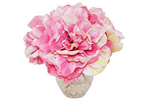 Pink Peonies in Etched Glass #51153