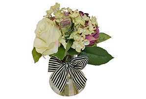 Rose and Hydrangea Mix with Bow #51299