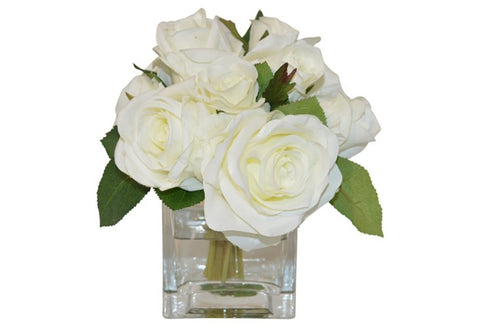 White Roses in Cube #51304