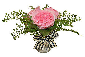 Roses & Fern with Bow #51334