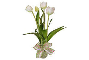 Tulips in Etched Glass #51336