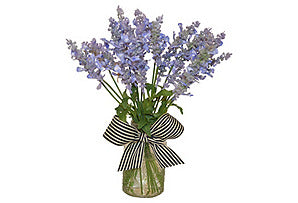 Lavender in Bottle with Bow #51345