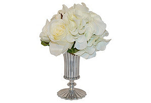 Hydrangea, Rose, Peony Mix in Silver Urn #51360