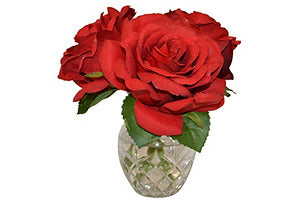 Roses in Etched Glass #51392
