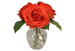 Roses in Etched Vase #51399