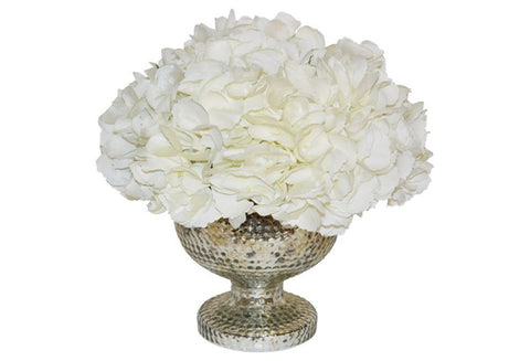 Hydrangeas in a Footed Mercury Vase #51961