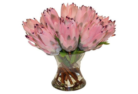Pink Protea in a Medium Flared Vase #52017