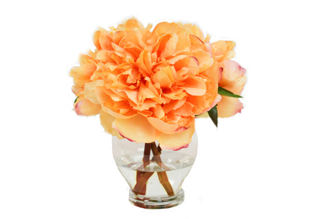 Orange Peonies in Tall Rose Bowl #52820